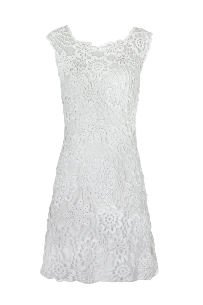 Angelina Irish Lace Crochet Dress Laura Theiss